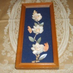 Vintage Framed Wall Art With Shells HangingPicture